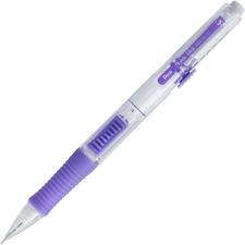 Pentel Quick Click Mechanical Pencil - HB Lead - 0.5 mm Lead Diameter - Refillable - Clear, Violet Barrel - 1 Each