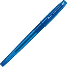 Pilot Super Grip Ballpoint Pen - Fine Pen Point - 0.7 mm Pen Point Size - Refillable - Blue Oil Based Ink - Translucent, Blue Barrel - 1 Each