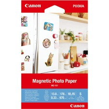 """Canon Photo Paper - 4"""" x 6"""" - 670 g/m² Grammage - Glossy - 1 Each"""
