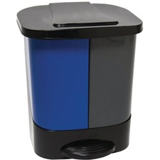 """Globe Step-On 2 Stream Can Waste/Recycle - Multi-compartment - 98.42 L Capacity - Handle - 16"""" Height x 10.5"""" Width - Multi - 1 Each"""