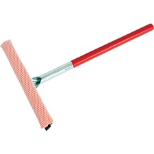 """Globe 10"""" Wide Auto Winshield Squeegee - 22"""" Long - 10"""" (254 mm) Blade - 22"""" (558.80 mm) Handle - Long Lasting, Durable, Handle, Zinc Plated Head - Multi"""