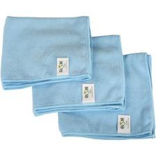 "Globe 16""x16"" Microfiber Cloth 240GSM Blue - Cloth - 16"" (406.40 mm) Width x 16"" (406.40 mm) Length - 10 / Pack - Blue"