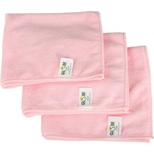 "Globe 16""x16"" Microfiber Cloth 240GSM Pink - Cloth - 16"" (406.40 mm) Width x 16"" (406.40 mm) Length - 10 / Pack - Pink"