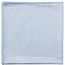 "Globe 14""""x14"""" Glass/Mirror Microfiber Cloth Blue - Cloth - 14"" (355.60 mm) Width x 14"" (355.60 mm) Length - 10 / Pack - Blue"