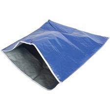 "Globe Replacement Litter Scoop Bag - 28"" (711.20 mm) Width x 18"" (457.20 mm) Length - Blue, Silver - Vinyl - 1Each - Waste Disposal"