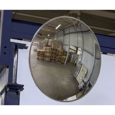 "Safety Zone Convex Mirror - Convex - 12"" Width - 1 Each"