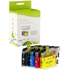 fuzion Ink Cartridge - Alternative for Brother LC103 - Black, Cyan, Magenta, Yellow - Inkjet - 600 Pages Black, 600 Pages Cyan, 600 Pages Magenta, 600 Pages Yellow - 1 Each