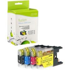 fuzion Ink Cartridge - Alternative for Brother LC75 - Black, Cyan, Magenta, Yellow - Inkjet - High Yield - 600 Pages Black, 600 Pages Cyan, 600 Pages Magenta, 600 Pages Yellow - 1 Each