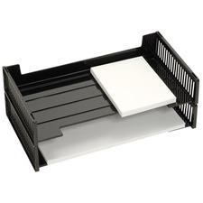 Korr Side Load Legal Tray - Desktop - Black - Plastic - 2 / Pack