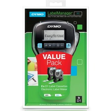"Dymo 160 Electronic Label Maker - 6 Font Size - 8 Text Style - Label - 0.25"" (6.35 mm) x 0.50"" (12.70 mm), 0.37"" (9.40 mm) x 0.50"" (12.70 mm) - Black, Gray - Handheld - Compact, Lightweight, Underline, QWERTY"