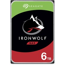 Seagate IronWolf ST6000VN001 6 TB Hard Drive - 3.5inInternal - SATA (SATA/600) - Storage