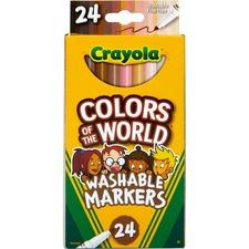 Crayola Ultra-Clean Marker - Wide Marker Point - 10 / Box