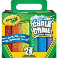 Crayola Chalk Stick - Assorted - 24 / Pack