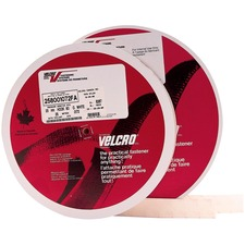 "VELCRO® Self-Adhesive Strips - 25 yd (22.9 m) Length x 1"" (25.4 mm) Width - Nylon - 1 EachRoll - White"