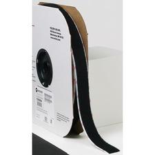 "VELCRO® Self-Adhesive Strips - 25 yd (22.9 m) Length x 1"" (25.4 mm) Width - Nylon - 1 EachRoll - Black"