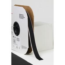 "VELCRO® Self-Adhesive Strips - 25 yd (22.9 m) Length x 1"" (25.4 mm) Width - Acrylic, Nylon - Desktop Dispenser - 1 EachRoll - Black"