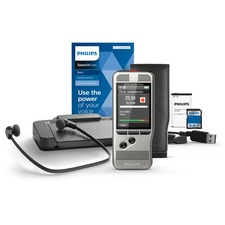 Philips Pocket Memo Dictation and Transcription Set - SDHC SupportedLCD - Headphone - Portable