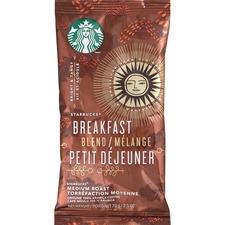 Starbucks Breakfast Blend Ground Coffee Packets - Breakfast Blend, Bright Citrus - Medium - 2.5 oz Per Packet