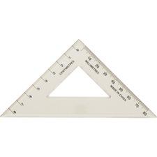 Westcott 45° Set Square - bulk - Acrylic Plastic - Clear - 1 Each