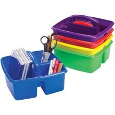 "Storex Storage Caddy - 5.3"" Height x 9.3"" Width x 9.3"" Depth - Assorted - Plastic - 1 Each"