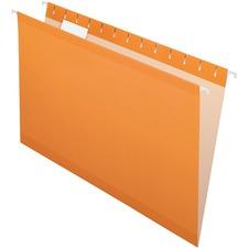 "TOPS Legal Hanging Folder - 8 1/2"" x 14"" - Fiber - Orange - 25 / Box"