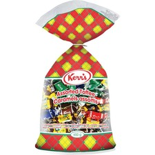 Kerr's Assorted Toffee - Rum & Butter, Mint, Vanilla, Toasted Coconut, Licorice, Coffee, Spearmint Nougat, Peppermint Nougat - Peanut-free, Nut-free, Gluten-free, No High Fructose Corn Syrup - 425 g - 1 Each