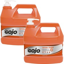 Gojo® NATURAL* ORANGE Pumice Hand Cleaner - Orange Citrus Scent - 3.79 L - Pump Bottle Dispenser - Soil Remover, Dirt Remover, Grease Remover, Oil Remover - Hand - Fast Acting