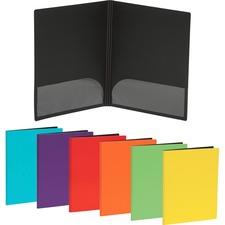 """Merangue Letter Report Cover - 8 1/2"""" x 11"""" - 2 Internal Pocket(s) - Polyfoam - Assorted - 1 Each"""