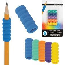 "Merangue 5pk Comfort Pencil Grips - 6.02"" (152.91 mm) Long - 1 / Pack"