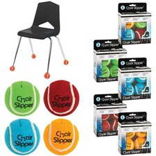 Merangue 4pk Assorted Colour Chair Slippers - 1 / Pack