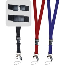 Gemex Lanyard with Plastic Clip - 1 Each - Blue - Plastic, Metal