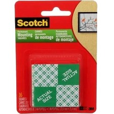 "3M Scotch® Mounting Tape - 1"" (25.4 mm) Length x 1"" (25.4 mm) Width - 6"