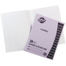 """Hilroy Québec Stitched Exercise Book, 28 pages - 28 Pages - Stitched - Interlined, Dotted - 9.13"""" (231.78 mm) x 7.13"""" (180.98 mm) x 0.13"""" (3.18 mm) - White Paper - Lightweight - 1Each"""