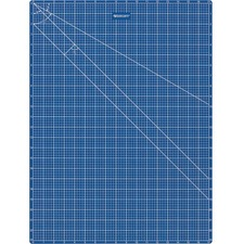 "Acme United 18""x24"" Double Sided Blue Cutting Mat - Writing, Drawing, Craft, Office, School, Home - 24"" (609.60 mm) Length x 18"" (457.20 mm) Width - Rectangle - Blue"