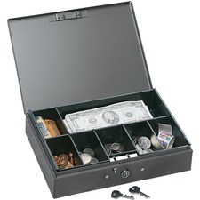 MMF Cash Box with Tray - Metal - Gray