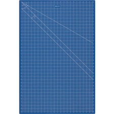"""Westcott 24""""x36"""" Double Sided Blue Cutting Mat - Writing, Drawing, Craft, Office, School, Home - 36"""" (914.40 mm) Length x 24 ft (7315.20 mm) Width - Rectangle - Blue"""