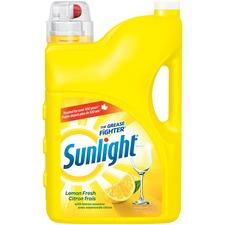 Sunlight Standard Dishwashing Liquid - Liquid - 142 fl oz (4.4 quart) - Lemon Fresh Scent - 1 Each - Yellow