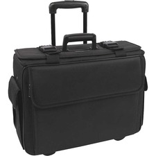 "bugatti Carrying Case for 17.3"" Wheel, Notebook - Black - Polyester - Handle, Telescoping Handle - 15.20"" (386.08 mm) Height x 18"" (457.20 mm) Width x 7.25"" (184.15 mm) Depth - 1 Pack"