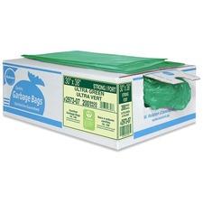 "Ralston Industrial Garbage Bags - 35"" (889 mm) Width x 50"" (1270 mm) Length - Green - Linear Low-Density Polyethylene (LLDPE), Hexene Resin - 200/Box - Industrial, Garbage"