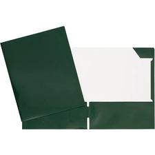 "Geocan Letter Report Cover - 8 1/2"" x 11"" - 80 Sheet Capacity - 2 Internal Pocket(s) - Card Stock - Dark Green - 1 Each"