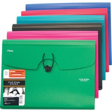 Five Star Expanding File - 13 Pocket(s) - Poly - Assorted - 1 Each
