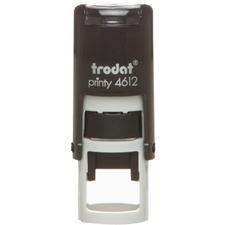"Trodat Printy Self-Inking Custom Stamp - Custom Design - 2 Line(s) - 0.50"" (12.70 mm) Impression Diameter - 1 Each"