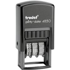 Trodat Printy Custom Dater - Date Stamp - 1 Line(s)Rubber - 1 Each