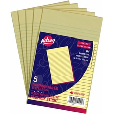 Hilroy Canary Figuring Pad - 64 Sheets - Ruled - 5 / Pack