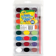 Crayola 24 Colours - Washable Watercolour Paint - 24 Color(s) - Washable