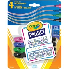 Crayola Metallic Outline Markers - 4 / Pack