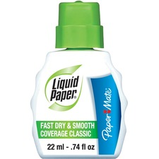 Paper Mate Correction Fluid - 22 mL - Water Based - 1 Each