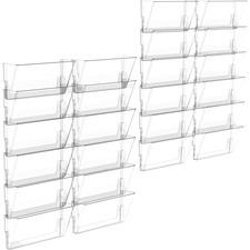 Storex Wall Pocket - Clear - Polyethylene - 6 / Pack