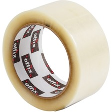 "Offix Packaging Tape - 109.4 yd (100 m) Length x 2"" (50.8 mm) Width - 6"