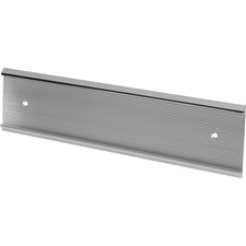 """Derome Name Plate Holder - Support 2"""" (50.80 mm) x 10"""" (254 mm) Media - Aluminum - 1 Each - Silver"""